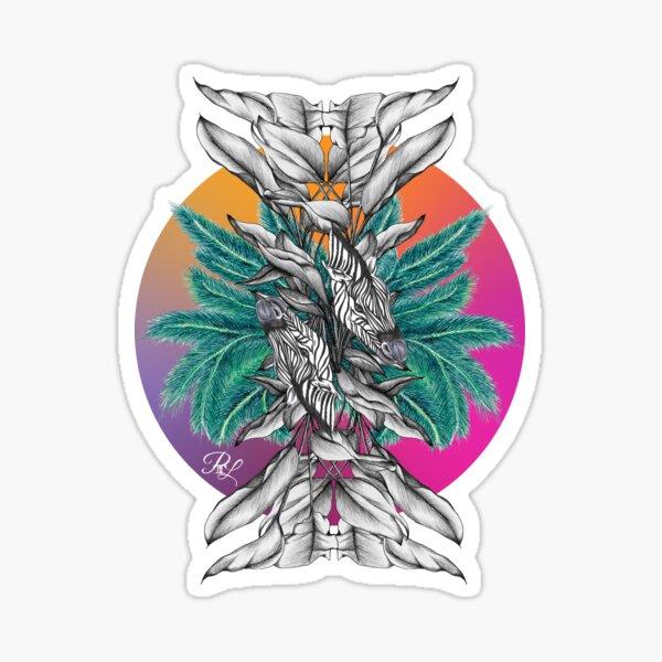 Zebra Palm Tree Sticker
