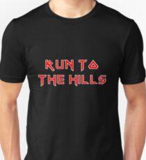 Run To The Hills - Iron Maiden Style Unisex T-Shirt