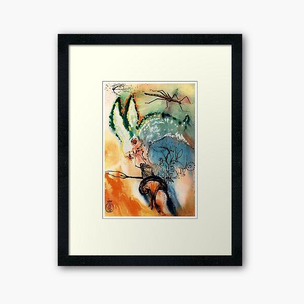 DALI : Vintage Alice in Wonderland Down The Rabbits Hole Print Framed Art Print