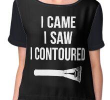 I Came i Saw i CONTOURED - Make up Artist Design brush Chiffon Top