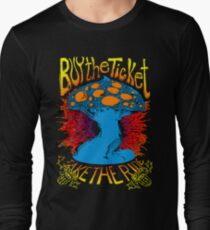 """""""Buy the ticket take the ride"""" Hunter S. Thompson quote original drawing Long Sleeve T-Shirt"""