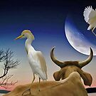 The Cattle Egret Jumped Over The Moon by SuddenJim