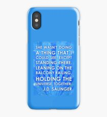 J.D. Salinger Quote - Saphire iPhone Case/Skin
