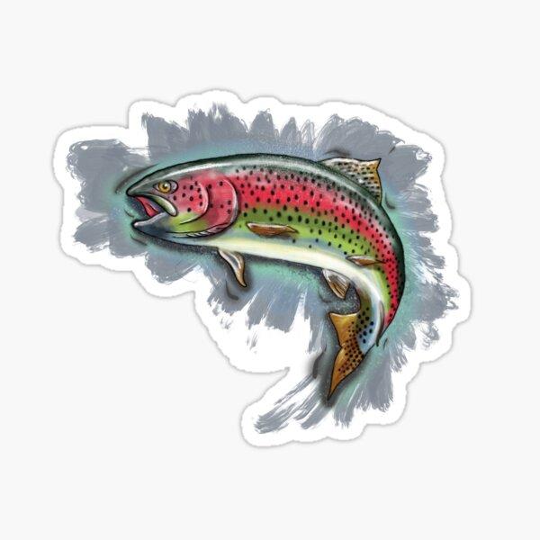Procreate Rainbow Trout Sticker