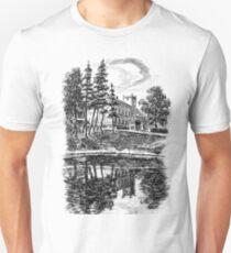 XIX century Palace in european village, Poland Unisex T-Shirt