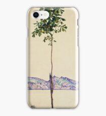 Egon Schiele - Little Tree. Schiele - forest view. iPhone Case/Skin
