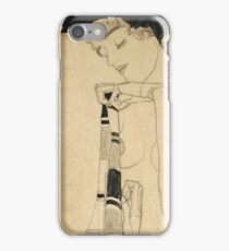 Egon Schiele - Standing Girl. Schiele - woman portrait. iPhone Case/Skin