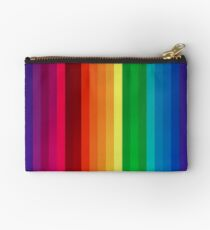 Rainbow Stripes T Shirt Zipper Pouch