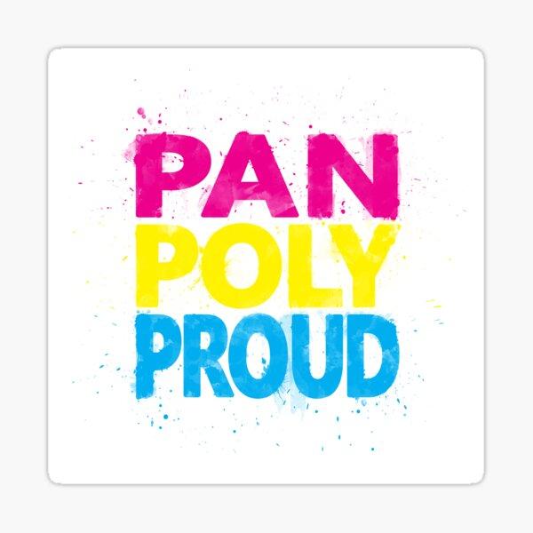 Pan Poly Proud - Flag Colors Sticker