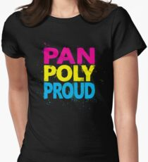 Pan Poly Proud - Flag Colors Women's Fitted T-Shirt