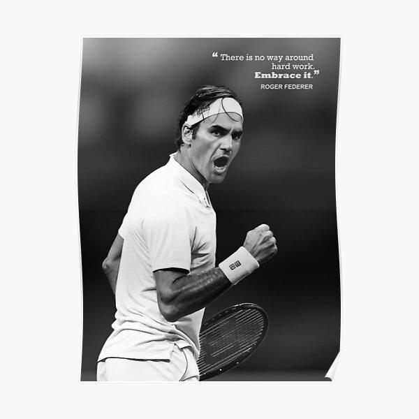 Roger Federer Motivation Poster