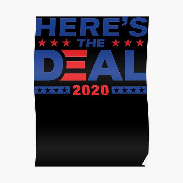 Here&x27;s The Deal Biden Trump Debate Mix WTFBrahh Classic T-Shirt Poster