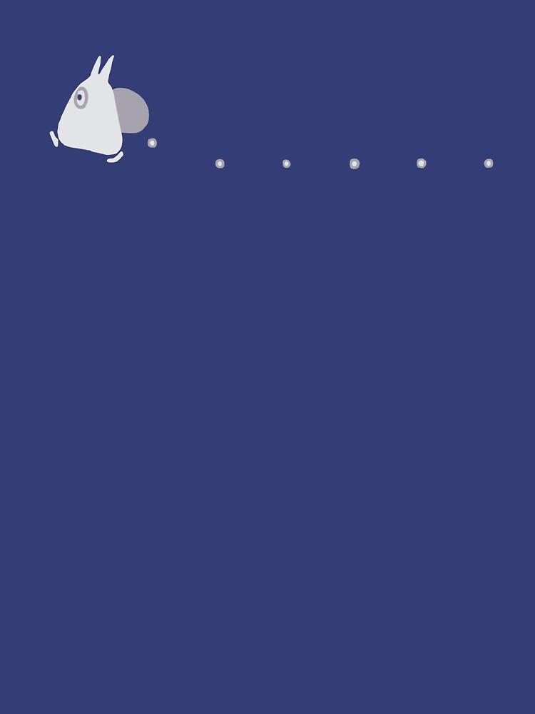 Kleine weiße Totoro fallende Eicheln - zweifarbig von joshdbb