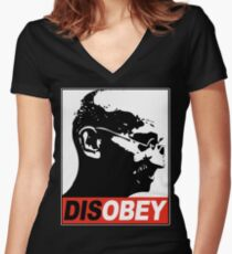 DISOBEY Women's Fitted V-Neck T-Shirt
