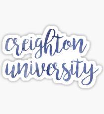 Creighton University Watercolor Sticker
