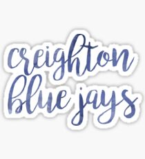 Creighton Blue Jays Watercolor Sticker