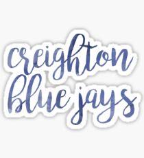 Creighton Blue Jays Watercolor Sticker