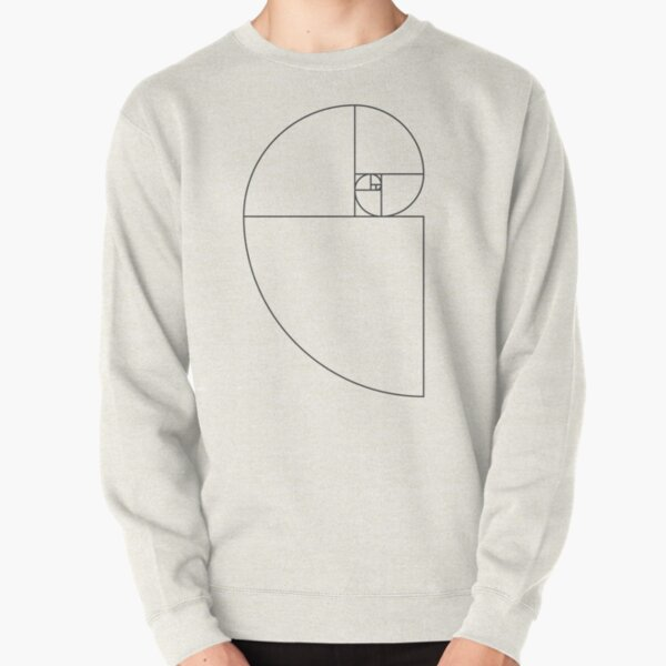 Golden Ratio Spiral - Sections Outline Pullover Sweatshirt
