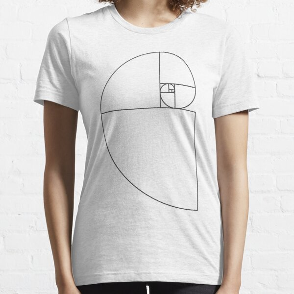 Golden Ratio Spiral - Sections Outline Essential T-Shirt