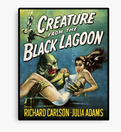 Creature From The Black Lagoon Canvas Print