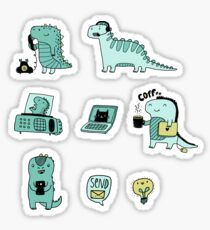 Communication Dinosaurs.  Sticker