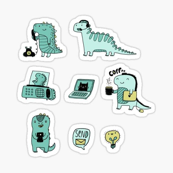 Communication Dinosaurs.  Sticker