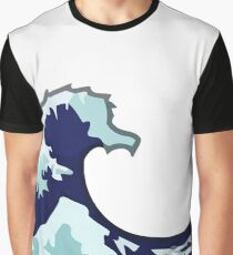 Water Wave Emoji Graphic T-Shirt