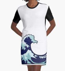Wasserwelle Emoji T-Shirt Kleid