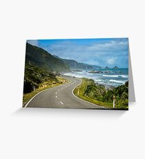 Dramatic New Zealand road  Greeting Card