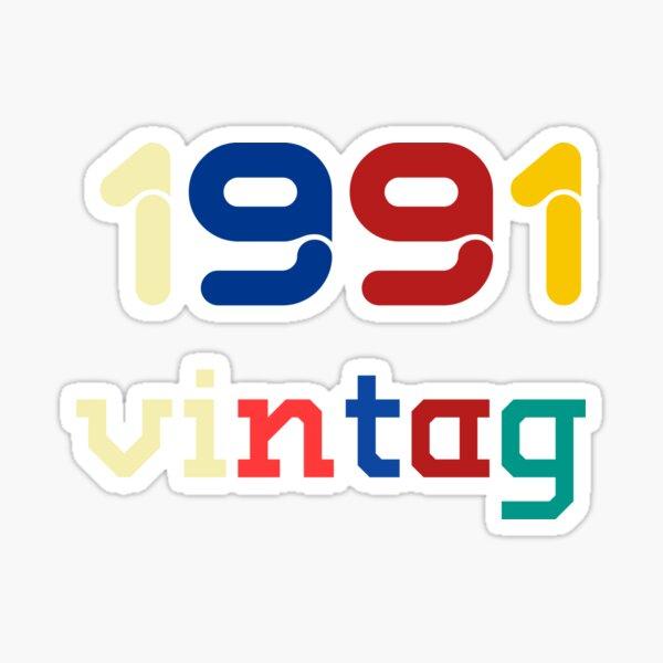 vintag 1991 brithday Sticker