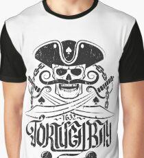 Tortuga pirates skull logo Graphic T-Shirt