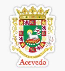 Acevedo Shield of Puerto Rico Sticker