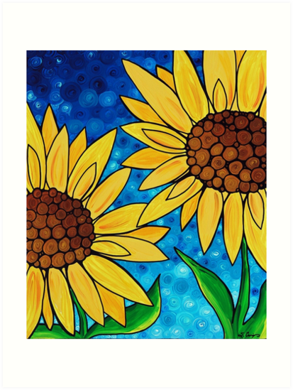 Yellow Sunflowers by Sharon Cummings