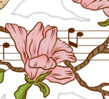 Birds, flowers and music Sticker