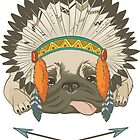 An Indian pug by BeeHappyShop