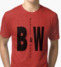Bering & Wells minimalist text design Tri-blend T-Shirt