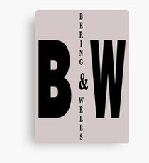 Bering & Wells minimalist text design Canvas Print