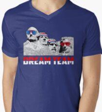 Mount Rushmore Dream Team Men's V-Neck T-Shirt