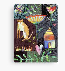 Cat House Heart Canvas Print
