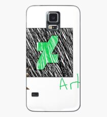 Deviantart Artist (Text, Dark Skin tone)  Case/Skin for Samsung Galaxy