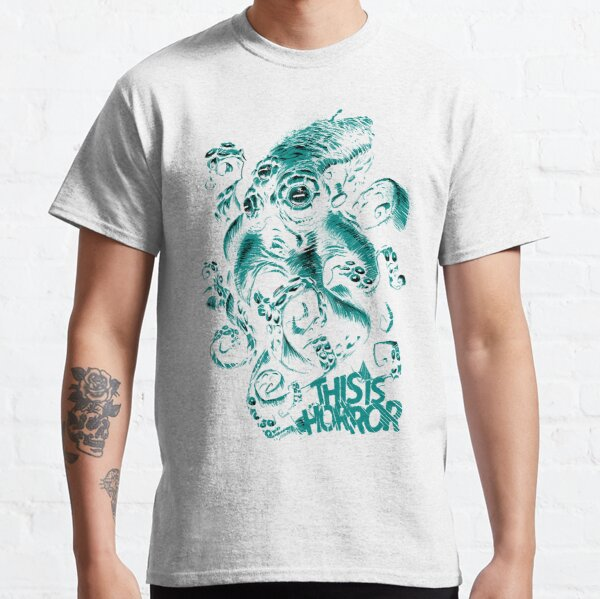 This Is Horror Green on White OctoTerror Classic T-Shirt