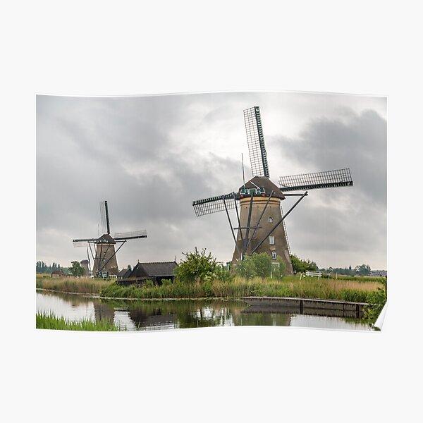 Kinderdijk Windmill - The Netherlands Poster
