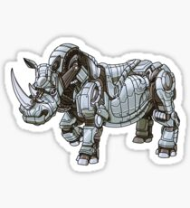 Mechanimal - Rhino Glossy Sticker
