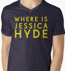 'Where is Jessica Hyde' from Channel 4's Utopia  Men's V-Neck T-Shirt