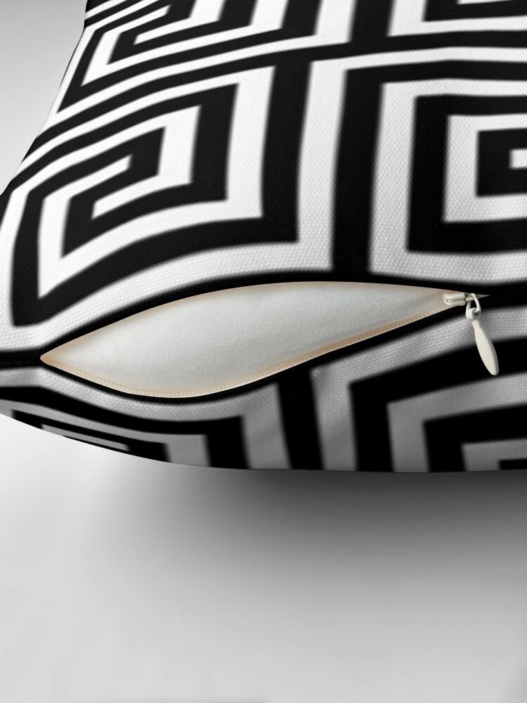 Alternate view of Black and white art  Throw Pillow