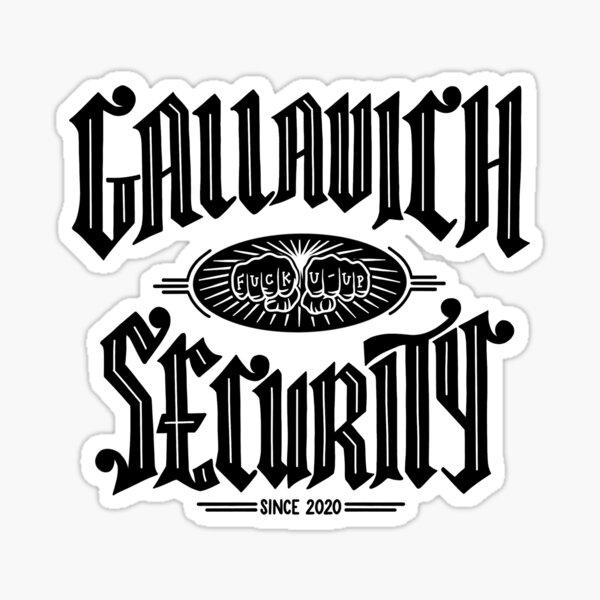Gallavich Security  - black Glossy Sticker
