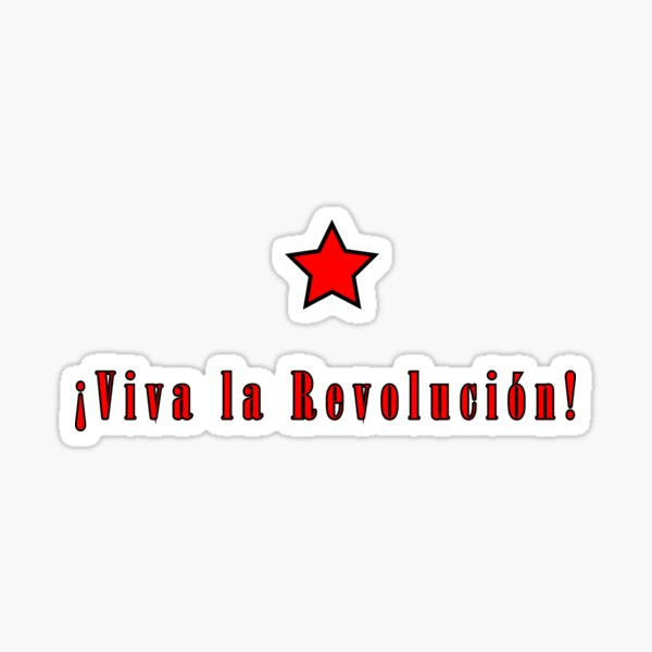 Che Guevara; Viva la revolucion Sticker