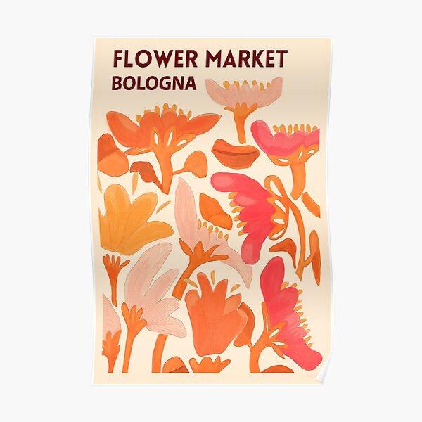 Flower Market Bologna Poster