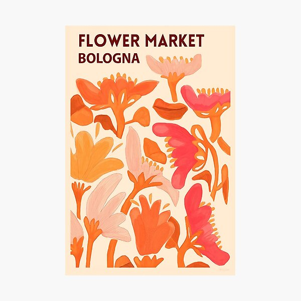 Flower Market Bologna Photographic Print