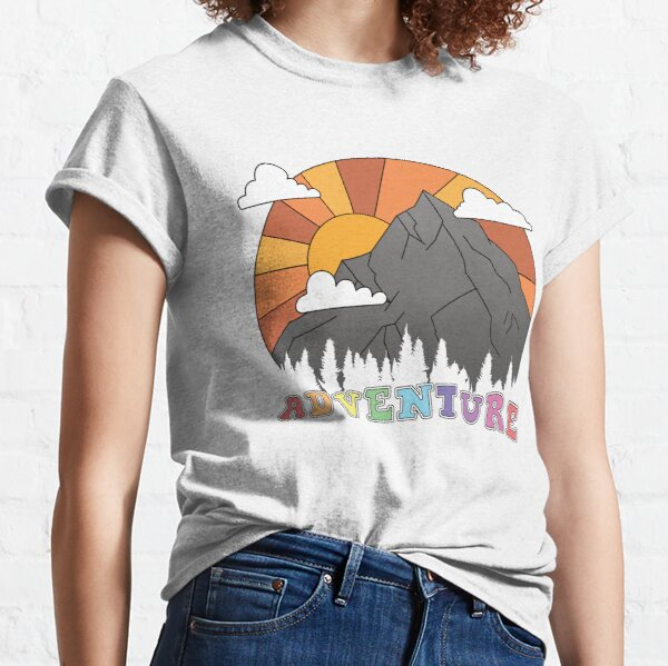 Retro Mountain Sunset Adventure  Classic T-Shirt